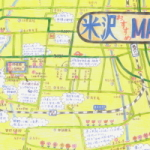 東京第一ホテル米沢の観光地図がかわいすぎる件