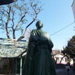 東京にもある坂本龍馬像を見に行った