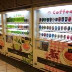 自動販売機の商品の別け方