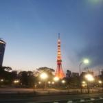 夜明けの東京タワー