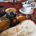 インド式ランチをご馳走になりました。